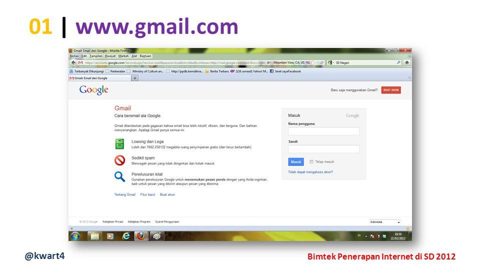 @kwart4 Bimtek Penerapan Internet di SD 2012 01 | www.gmail.com