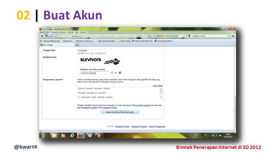 @kwart4 Bimtek Penerapan Internet di SD 2012 02 | Buat Akun