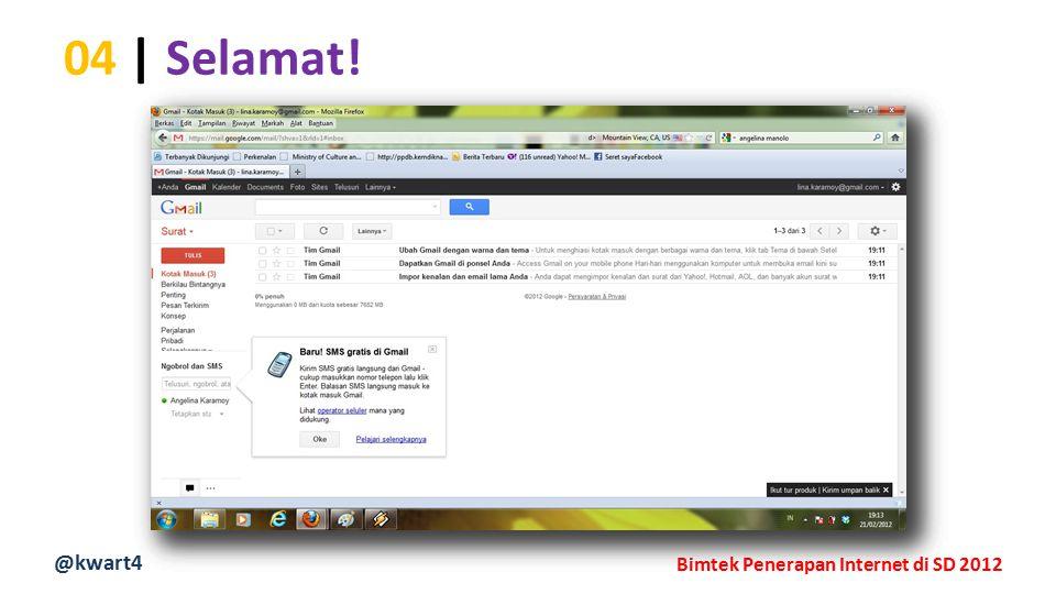@kwart4 Bimtek Penerapan Internet di SD 2012 04 | Selamat!
