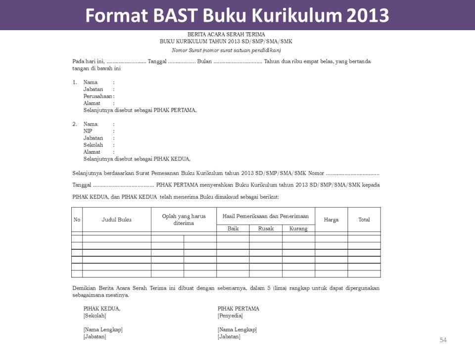 Format BAST Buku Kurikulum 2013 54