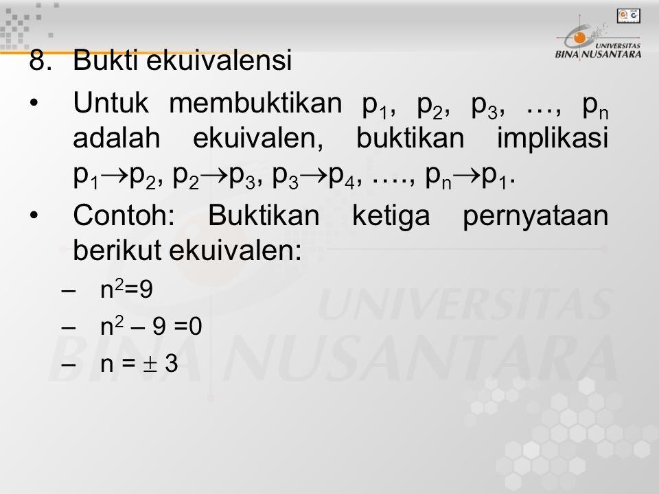 9.Bukti dengan counter example.