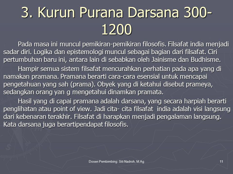 Dosen Pembimbing: Siti Nadroh, M.Ag11 3.