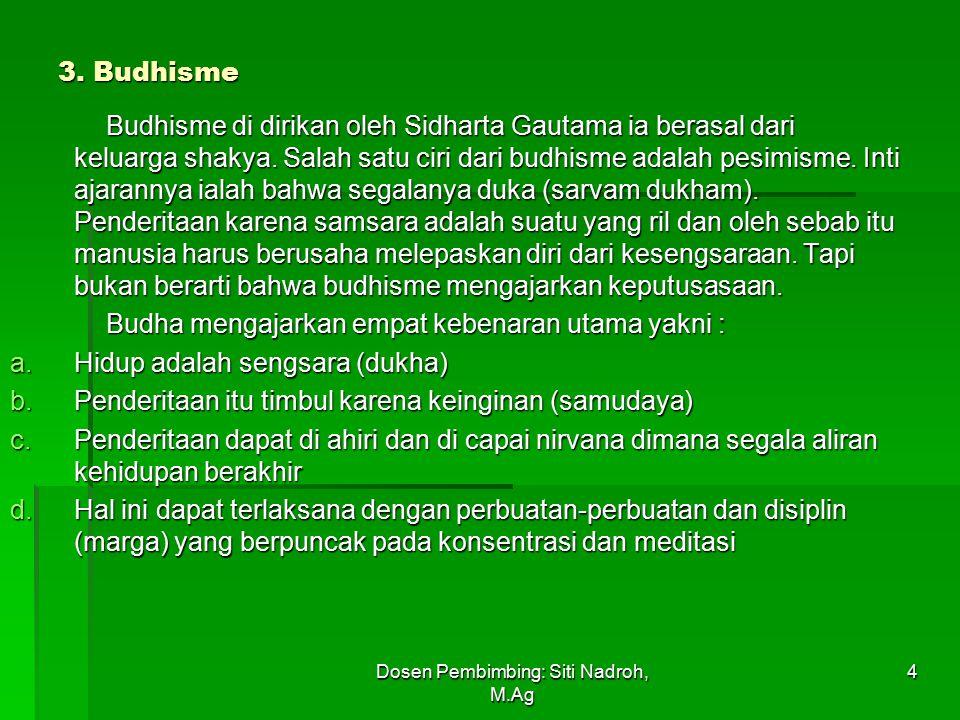 Dosen Pembimbing: Siti Nadroh, M.Ag 4 3.