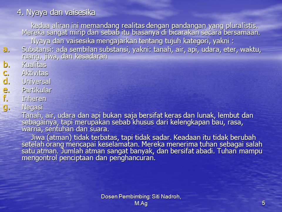 Dosen Pembimbing: Siti Nadroh, M.Ag6 5.