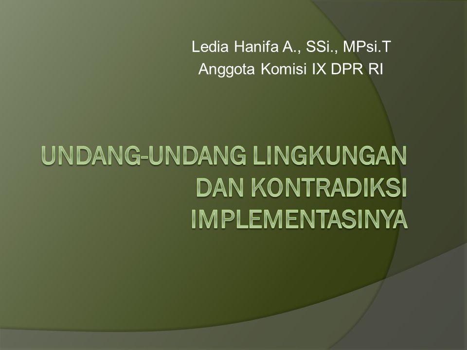 Landasan terhadap lingkungan  Undang-Undang Dasar Negara Republik Indonesia Tahun 1945 menyatakan bahwa lingkungan hidup yang baik dan sehat merupakan hak asasi dan hak konstitusional bagi setiap warga negara Indonesia.