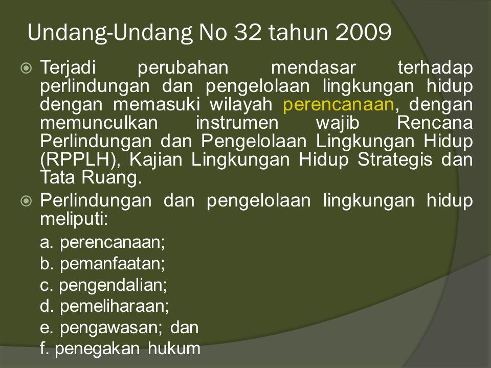 Persoalan lingkungan pra 2009  Pendanaan yang sangat minim baik ditingkat pusat maupun di daerah dalam persoalan monitoring lingkungan.  Peran masya