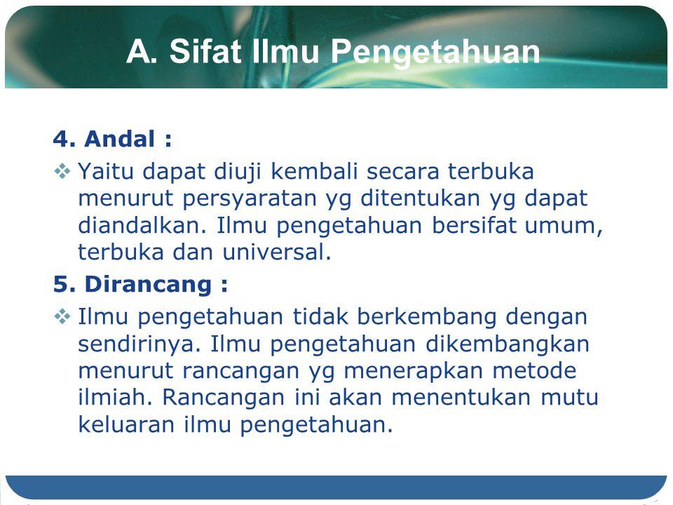 A.Sifat Ilmu Pengetahuan 4.