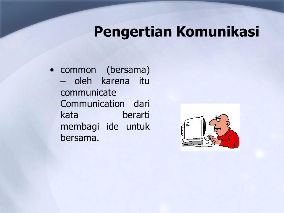 Pengertian Komunikasi common (bersama) – oleh karena itu communicate Communication dari kata berarti membagi ide untuk bersama.