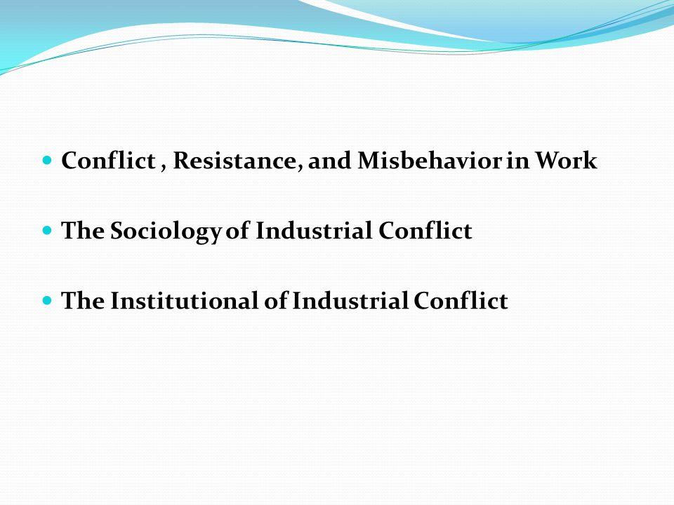Conflict, Resistance, and Misbehavior in Work