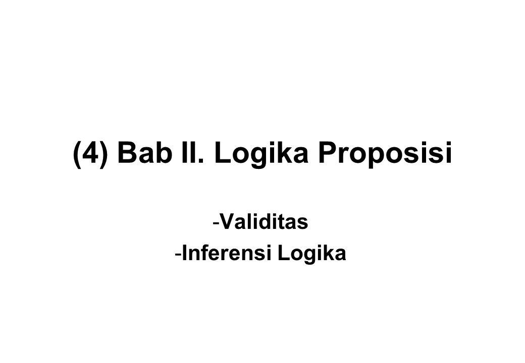 (4) Bab II. Logika Proposisi -Validitas -Inferensi Logika