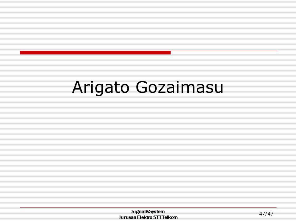 Signal&System Jurusan Elektro STT Telkom 47/47 Arigato Gozaimasu