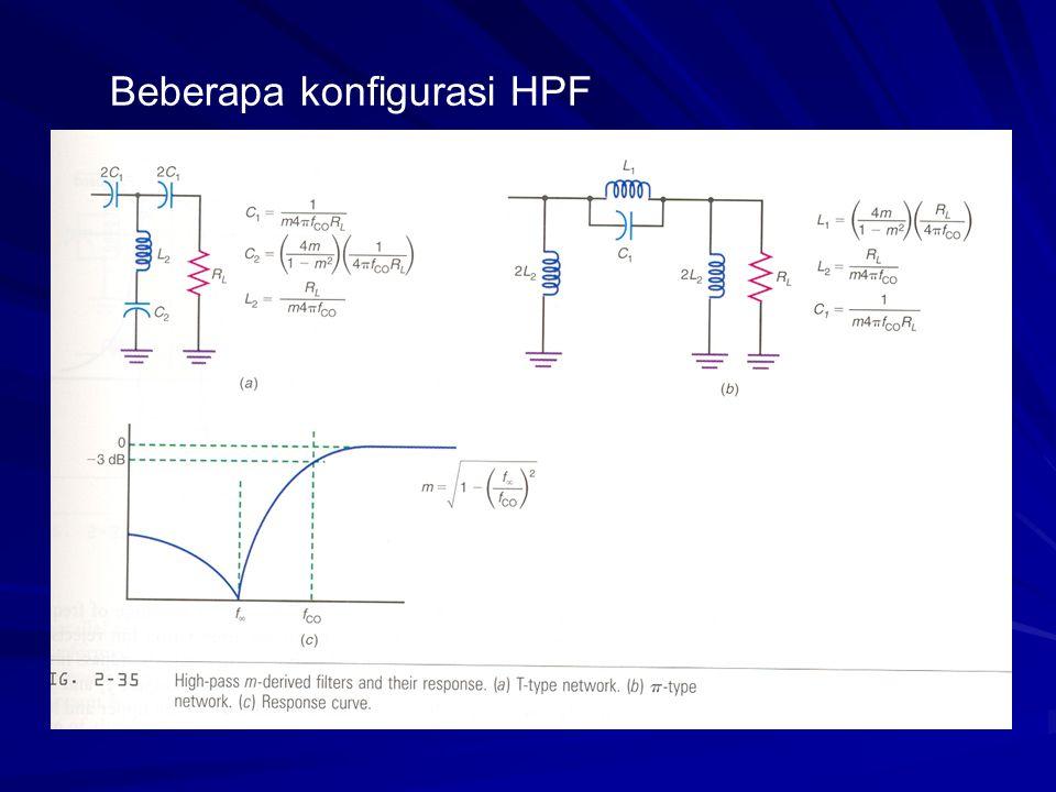 Beberapa konfigurasi HPF