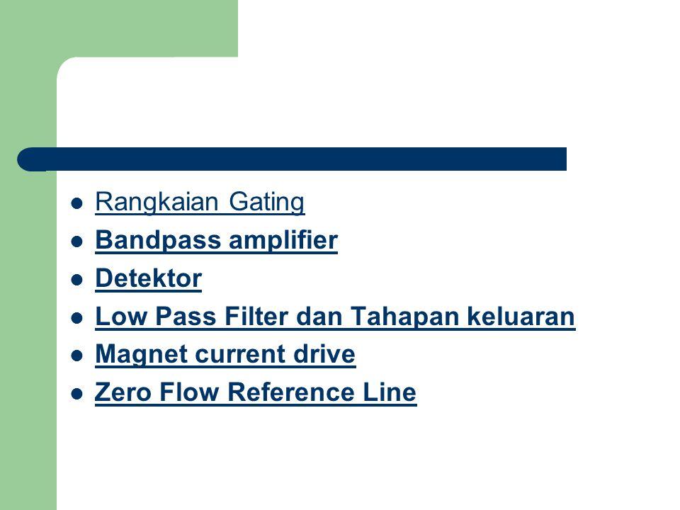 Rangkaian Gating Bandpass amplifier Detektor Low Pass Filter dan Tahapan keluaran Magnet current drive Zero Flow Reference Line