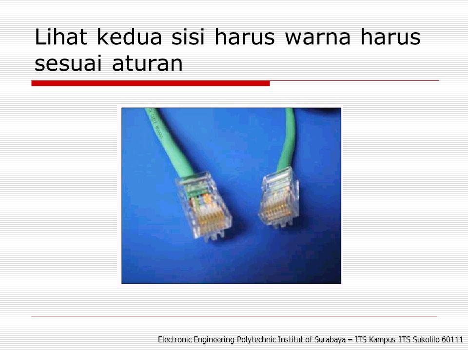 Electronic Engineering Polytechnic Institut of Surabaya – ITS Kampus ITS Sukolilo 60111 Lihat kedua sisi harus warna harus sesuai aturan