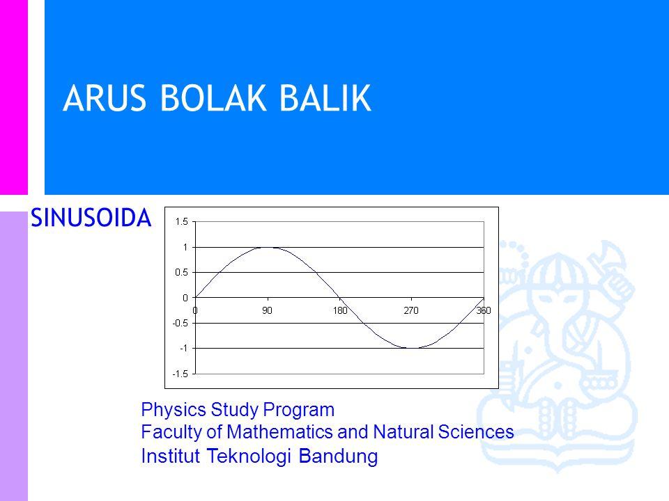 Physics Study Program - FMIPA   Institut Teknologi Bandung PHYSI S Analisa Rangkaian i(t)=i R (t) +i C (t)+i L (t) i R (t)=v(t)/R = i C (t)= i L (t)= i(t)=