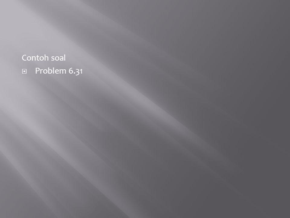 Contoh soal  Problem 6.31