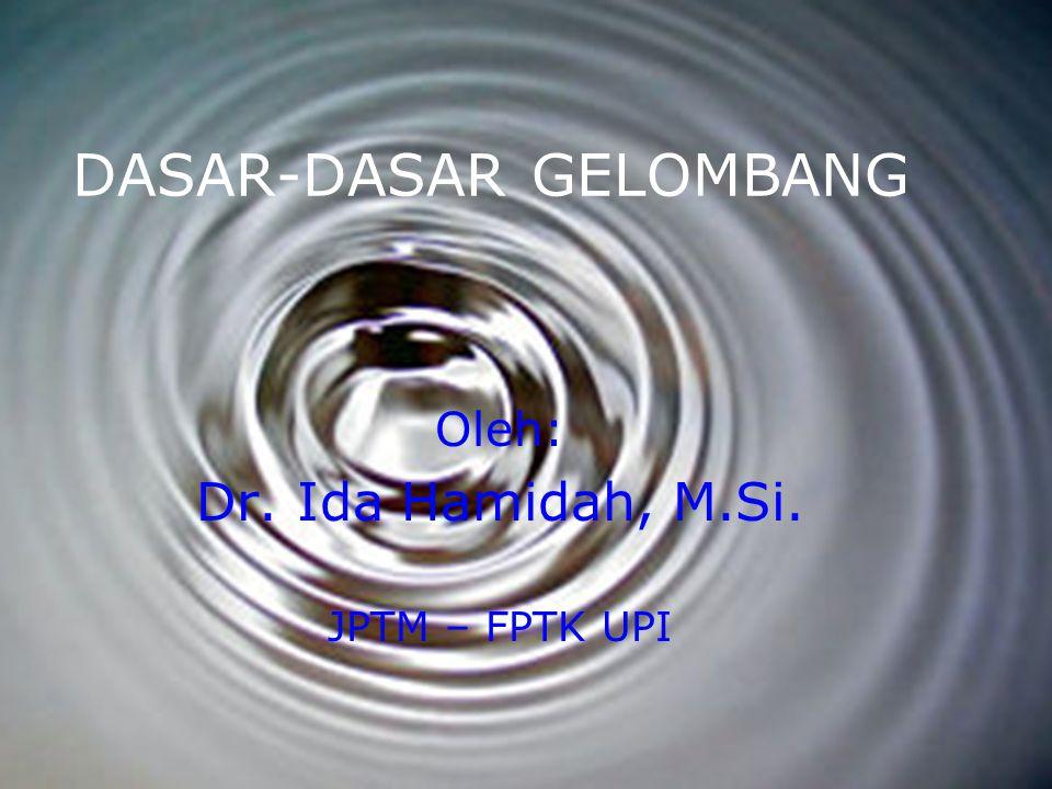 DASAR-DASAR GELOMBANG Oleh: Dr. Ida Hamidah, M.Si. JPTM – FPTK UPI