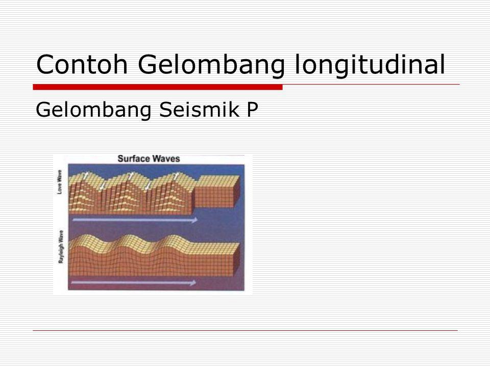 Contoh Gelombang longitudinal Gelombang Seismik P