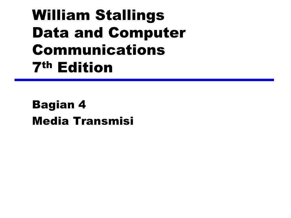 Overview Guided - wire Unguided - wireless Karakteristik dan qualitas diberikan oleh media dan sinyal For guided, media lebih penting For unguided, lebar pita dihasilkan oleh antena adalah lebih penting kuncinya rata-rata data dan jarak