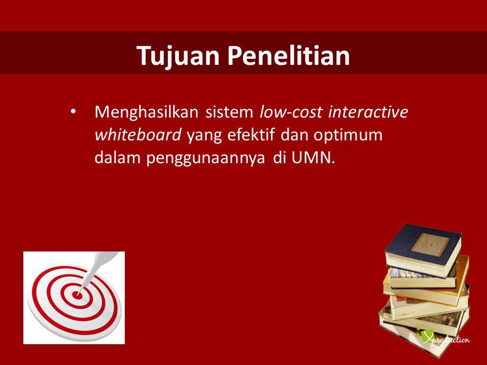 Manfaat Penelitian Digunakan sebagai sarana media pembelajaran modern di UMN bahkan di institusi pendidikan lainnya.