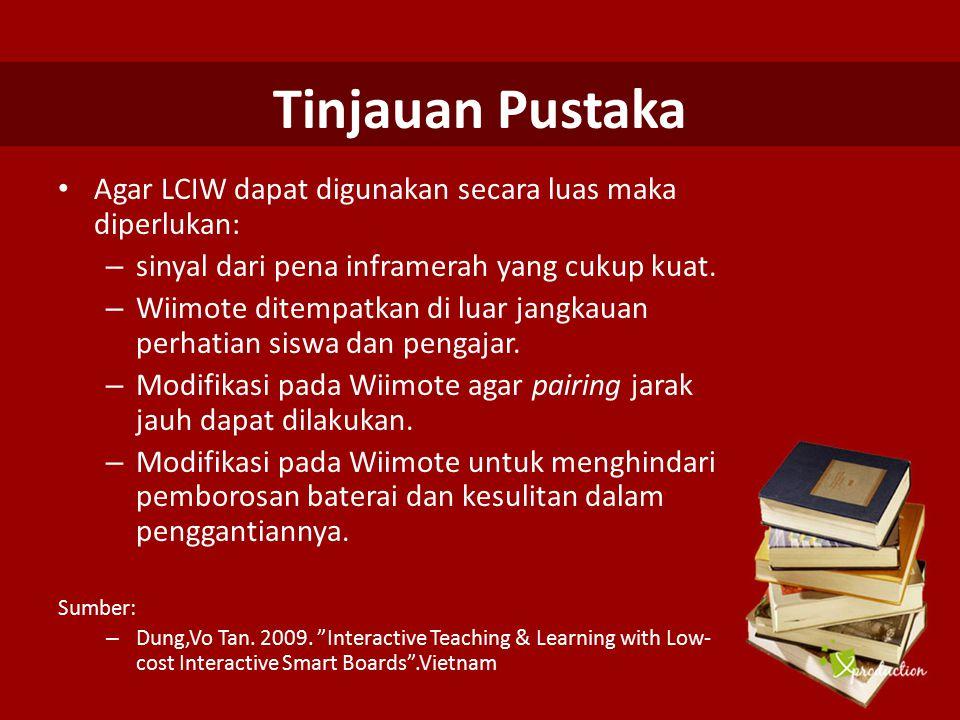 Pengujian Penggunaan LCIW Pengujian dilakukan dengan diberikannya kesempatan kepada para dosen dan mahasiswa untuk menggunakan LCIW sebagai sarana pembelajaran yang baru.