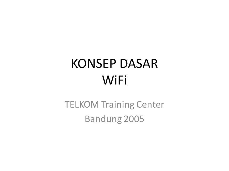 KONSEP DASAR WiFi TELKOM Training Center Bandung 2005