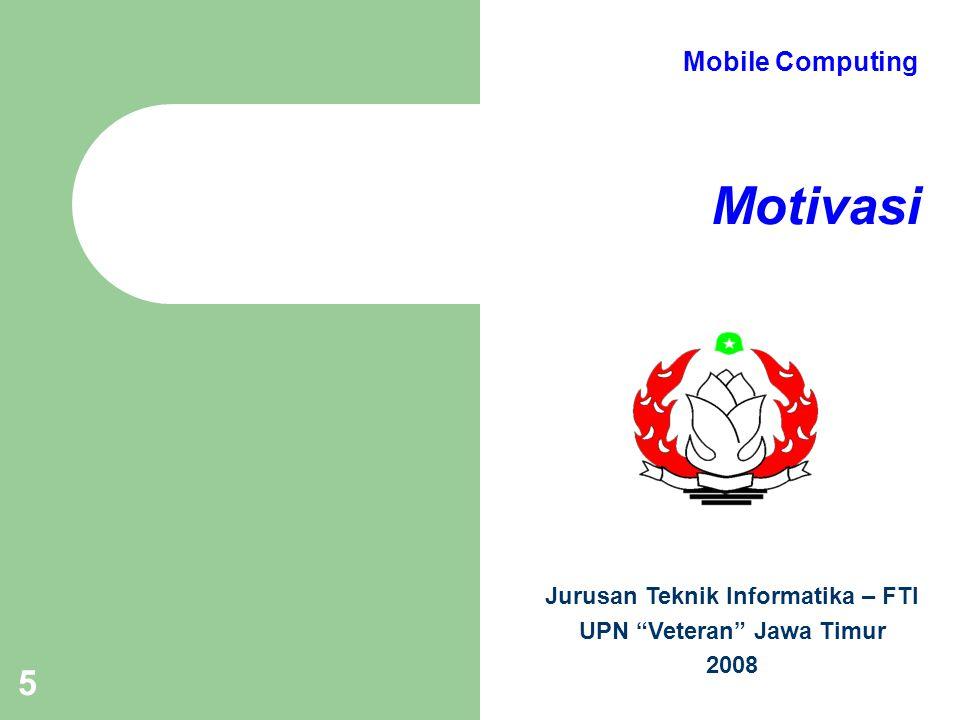 Modul 1 Pendahuluan 6 Mengapa Wireless & Mobile Trend pemakaian komputer & komunikasi mobile meningkat Aplikasi: – Kendaraan – Emergencies – Bisnis – Menggantikan wired networks – Hiburan – Layanan yang bergantung lokasi