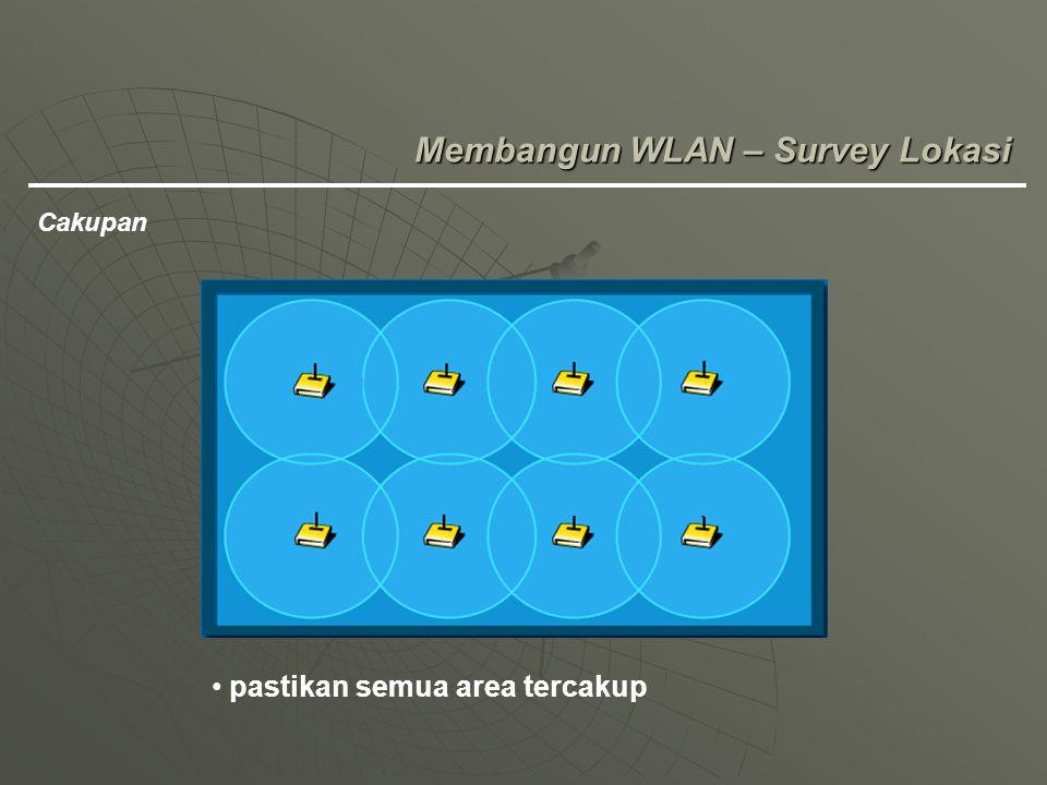 Membangun WLAN – Survey Lokasi Cakupan pastikan semua area tercakup
