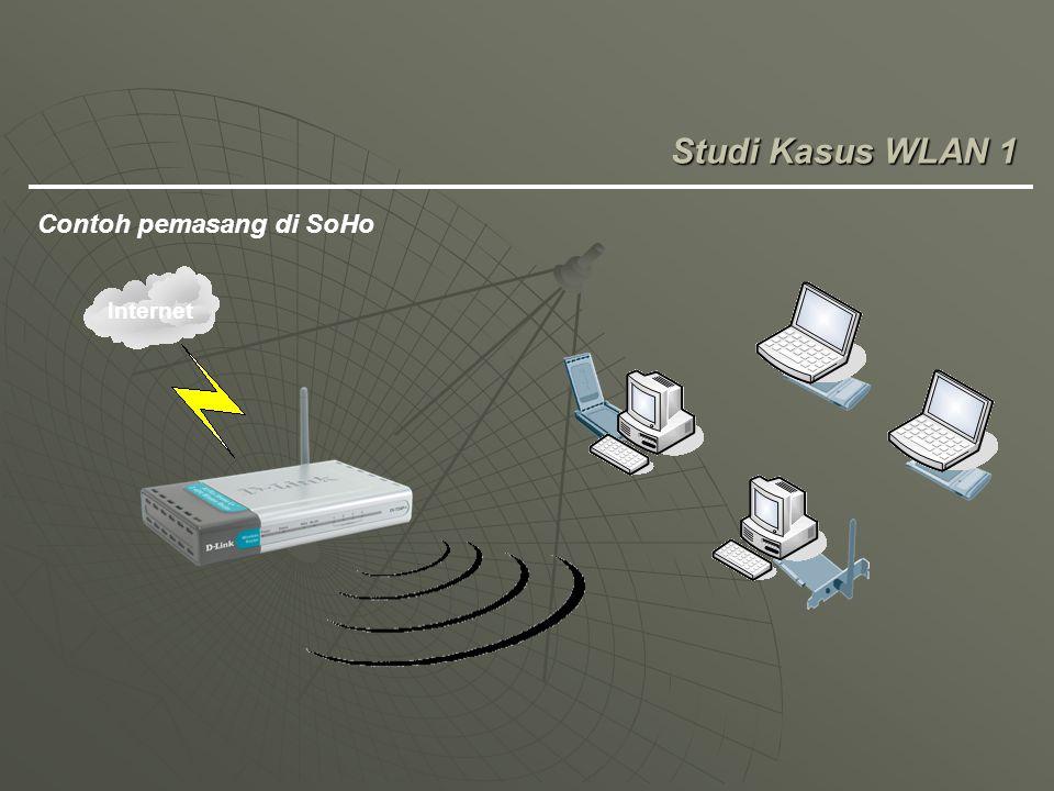Studi Kasus WLAN 1 Contoh pemasang di SoHo Internet