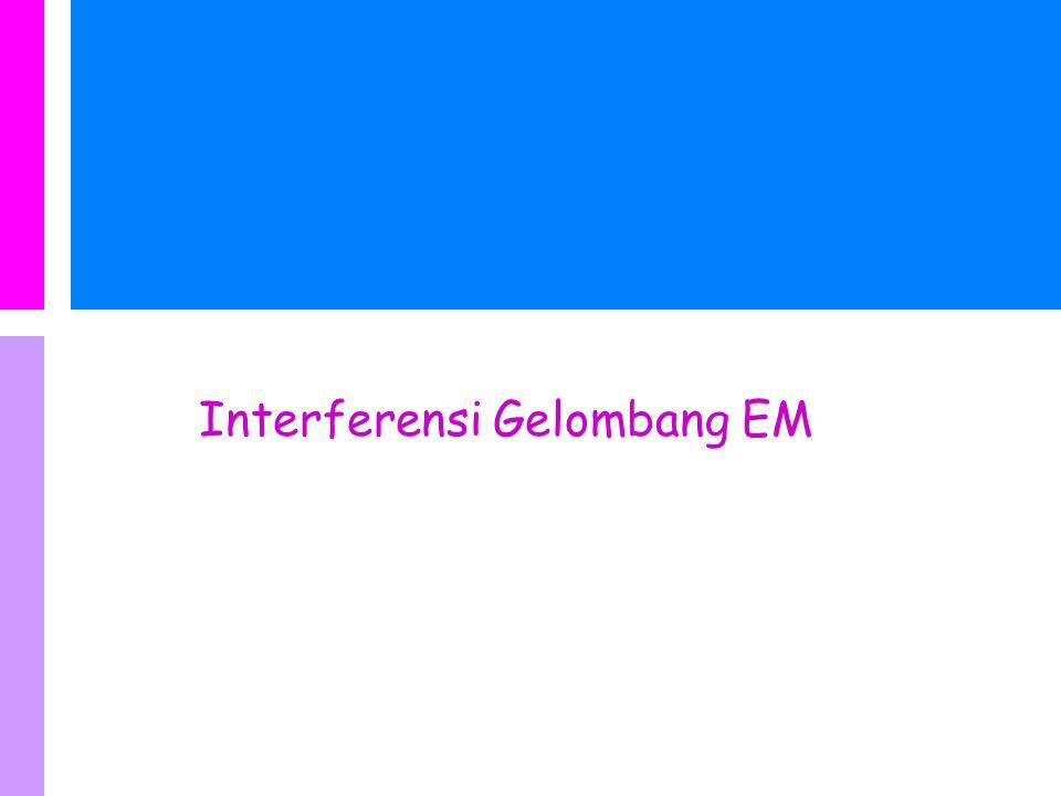 Interferensi Gelombang EM