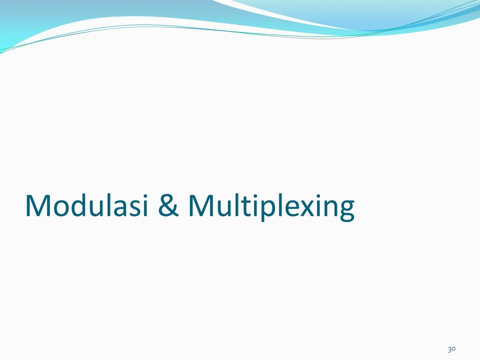 Modulasi & Multiplexing 30