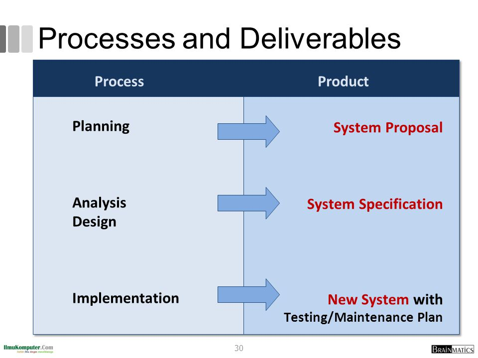 Processes and Deliverables 30