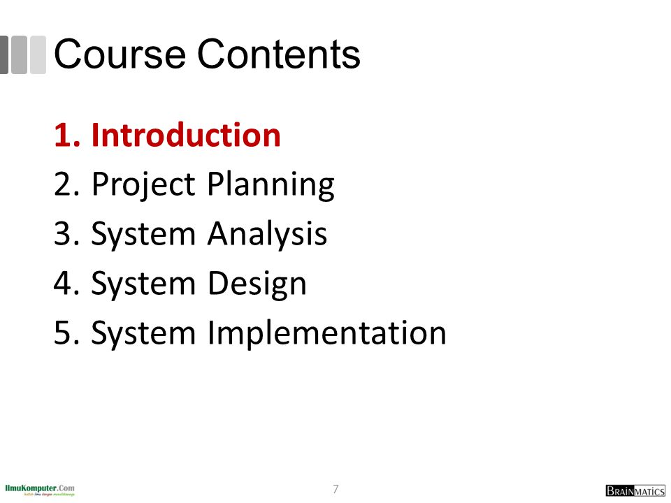 Design 1.Program Design (UML Diagrams) What programs need to be written Exactly what each program will do 2.User Interface Design How users interact with system Forms / reports used by the system 3.Data Design (ER Diagrams) What data is to be stored What format the data will be in Where the data will be stored (System Specification) 28