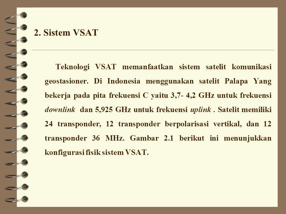 1.Umum Teknologi VSAT merupakan teknologi telekomunikasi yang memanfaatkan satelit.