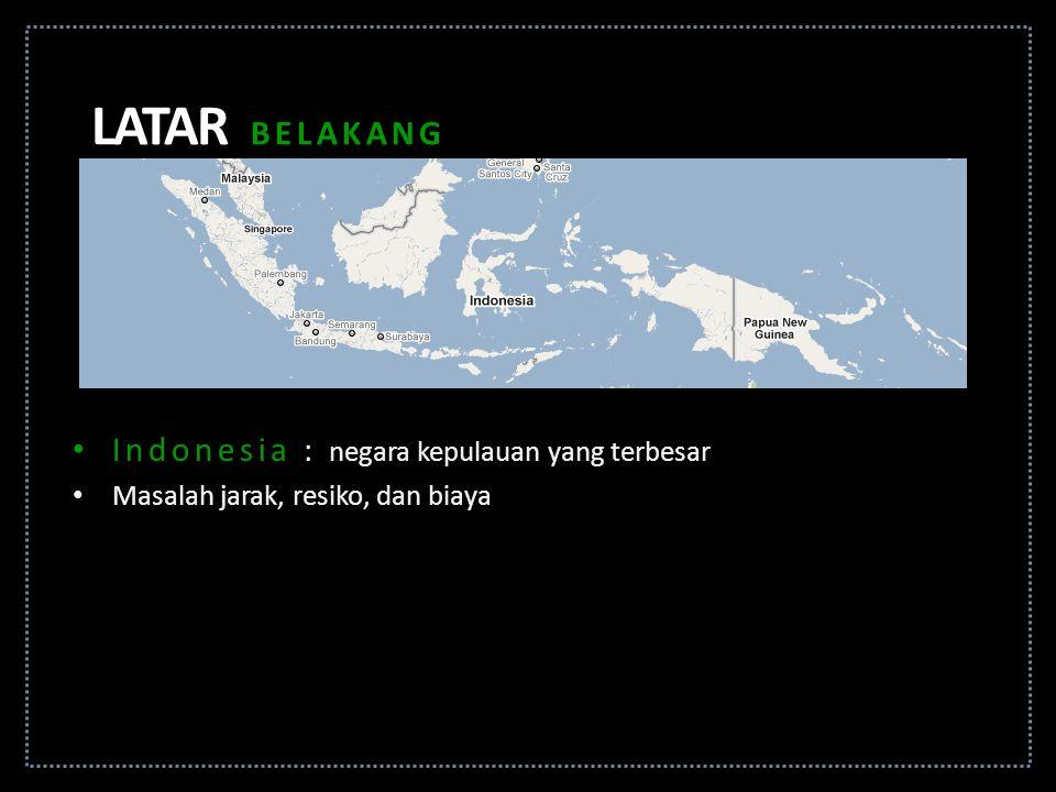 Indonesia : negara kepulauan yang terbesar Masalah jarak, resiko, dan biaya LATAR BELAKANG
