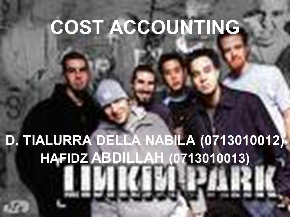 COST ACCOUNTING HAFIDZ ABDILLAH (0713010013) D. TIALURRA DELLA NABILA (0713010012)