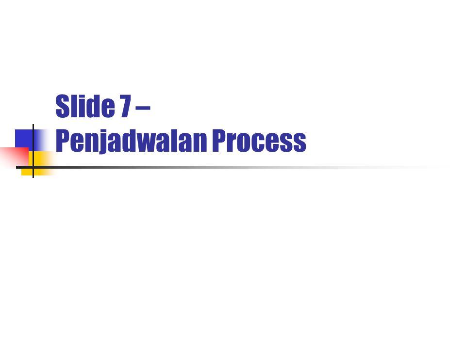 Slide 7 – Penjadwalan Process