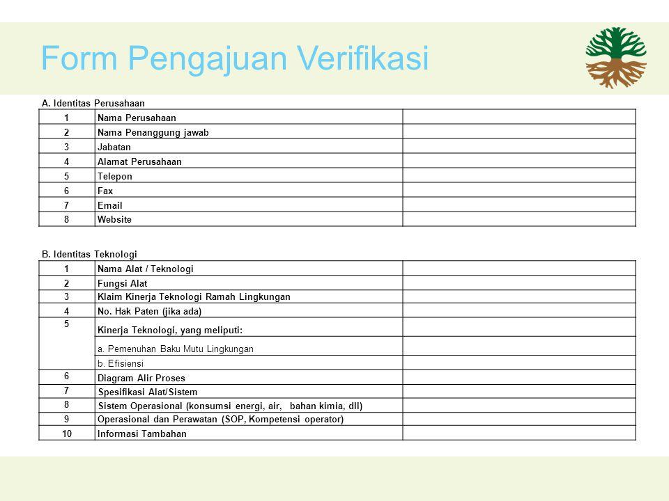 Form Pengajuan Verifikasi A.