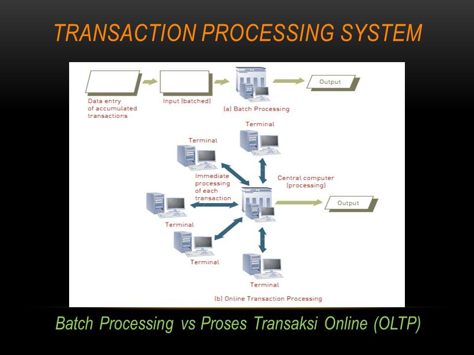 TRANSACTION PROCESSING ACTIVITIES Editing Data Proses pengecekan data untuk validitas dan kelengkapan untuk mendeteksi masalah.