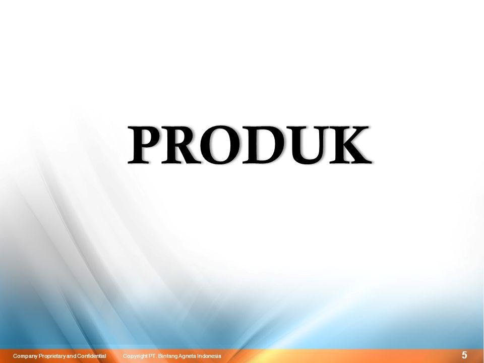 16 Company Proprietary and Confidential Copyright PT. Bintang Agneta Indonesia