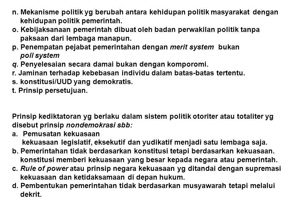b.Menurut Afan Gaffar membagi priodisasi demokrasi Indonesia: 1) priode masa revolusi kemerdekaan.