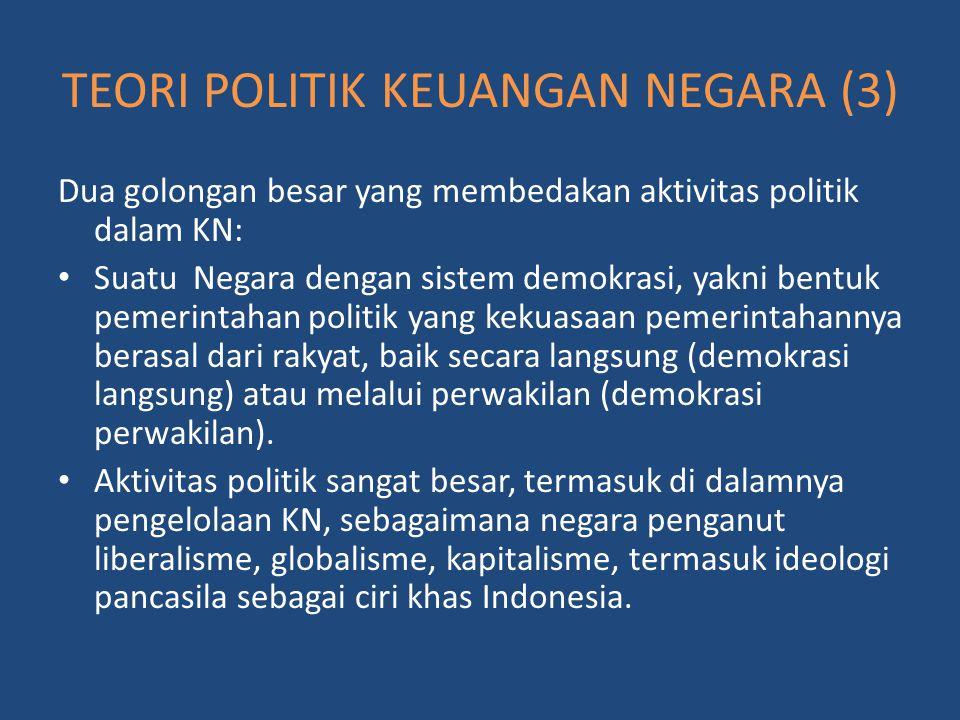 Dua golongan besar yang membedakan aktivitas politik dalam KN: Suatu Negara dengan sistem demokrasi, yakni bentuk pemerintahan politik yang kekuasaan