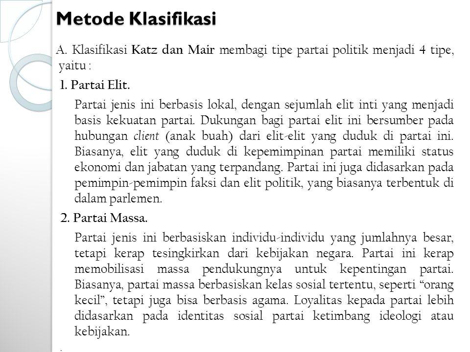 Metode Klasifikasi A.