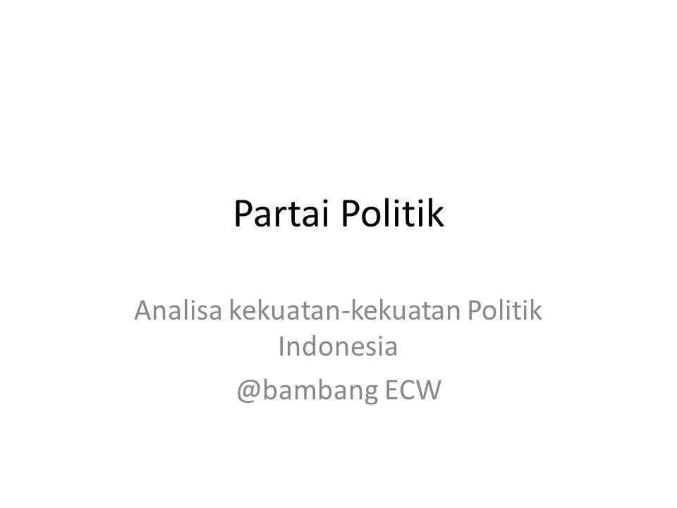 Partai Politik Analisa kekuatan-kekuatan Politik Indonesia @bambang ECW