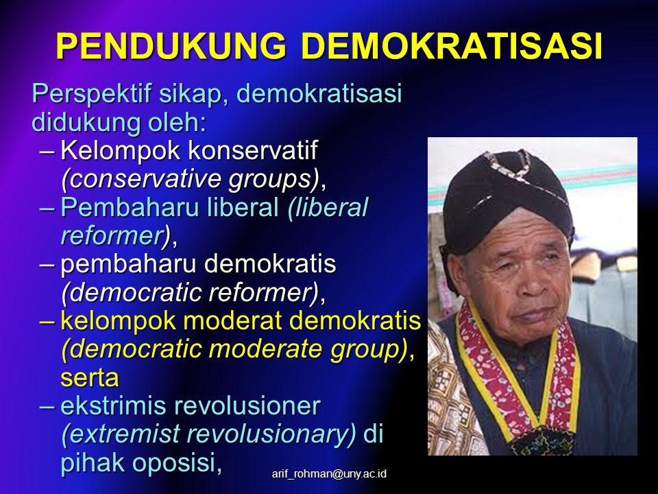 PROSES DEMOKRATISASI  Oposisi yg berinisiatif aktif menggantikan & menum- bangkan rezim lama.  Oposisi yg berinisiatif aktif menggantikan & menum- b