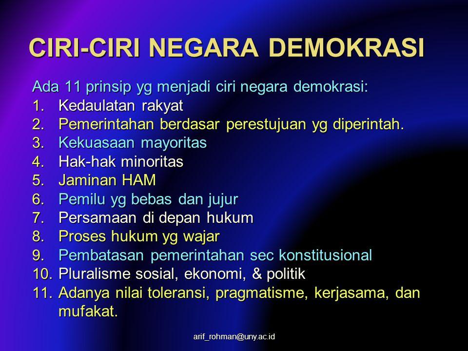 PENDUKUNG DEMOKRATISASI Perspektif sikap, demokratisasi didukung oleh: –Kelompok konservatif (conservative groups), –Pembaharu liberal (liberal reform