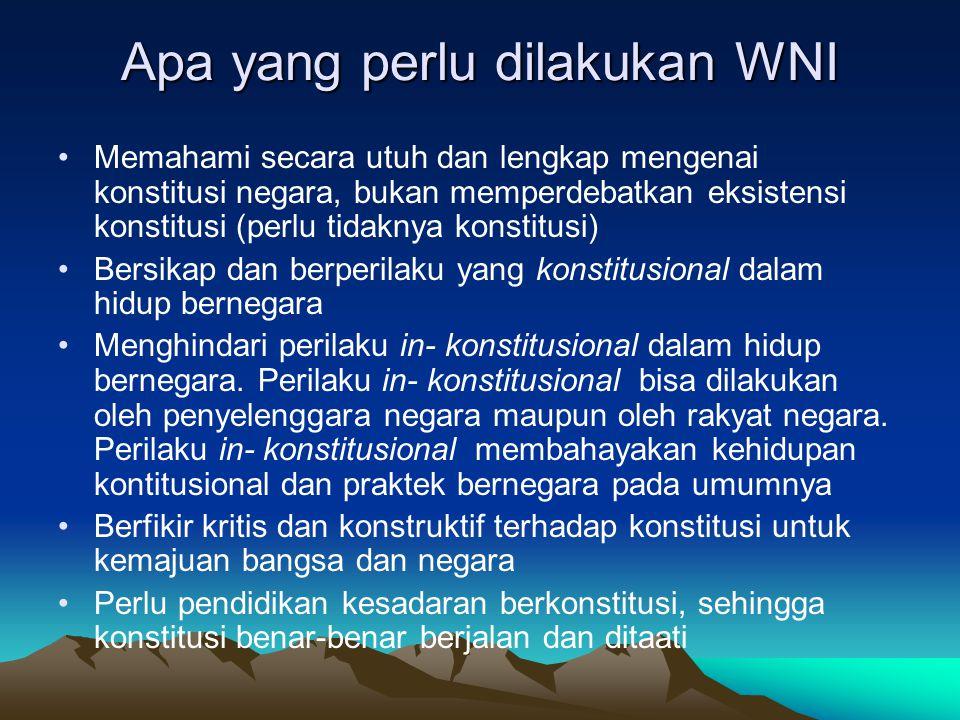 Ketatanegaraan Indonesia Bentuk negara : kesatuan dengan asas desentralisasi Bentuk pemerintahan : republik Sistem pemerintahan : presidensiil Sistem