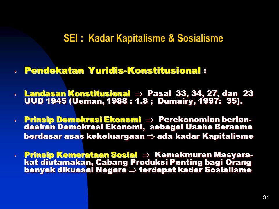30 SEI : Kadar Kapitalisme & Sosialisme Pendekatan Sejarah (Kronologis Historis) : Pendekatan Sejarah (Kronologis Historis) : Menolak Pengelolaan Pere