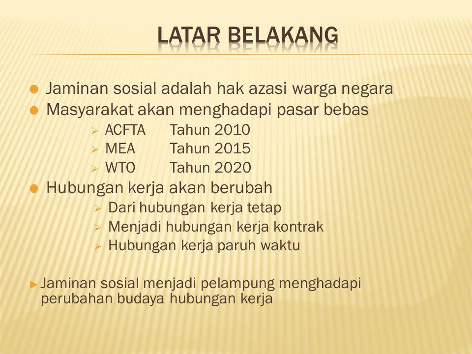 Sebagai  Inisiator BPJS  Team Loby  Team Legal Drafting  Tim Advokasi  Team Aksi Sasaran:  Diundangkannya UU Jaminan Sosial bagi pekerja dan seluruh rakyat Indonesia Prinsip:  Tanpa limitasi dan tanpa diskriminasi bagi seluruh rakyat Indonesia
