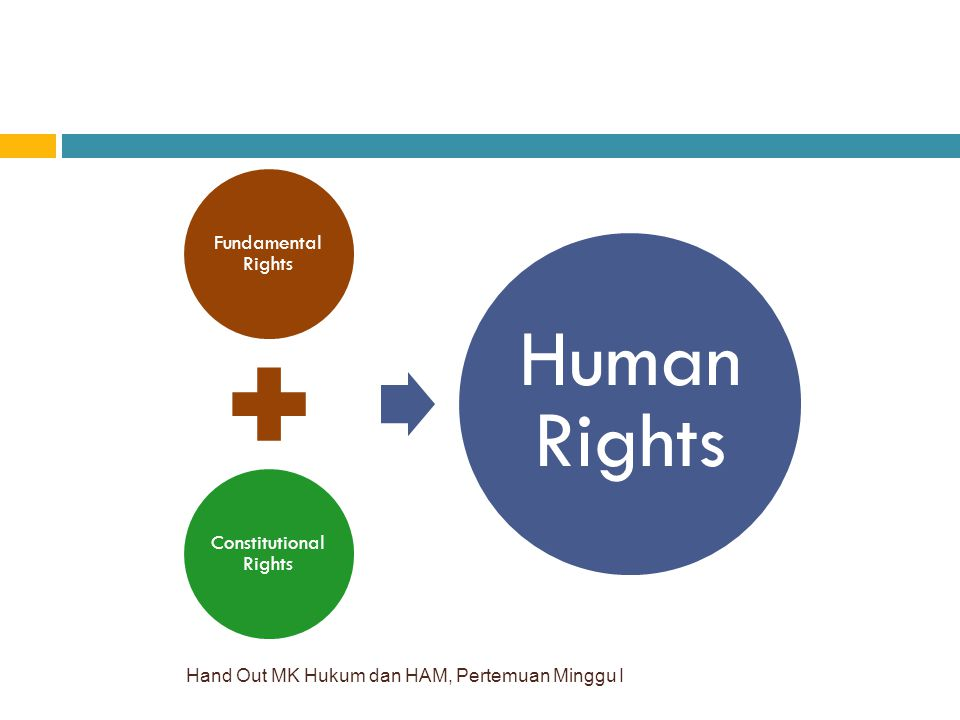 Hand Out MK Hukum dan HAM, Pertemuan Minggu I Fundamental Rights Constitutional Rights Human Rights